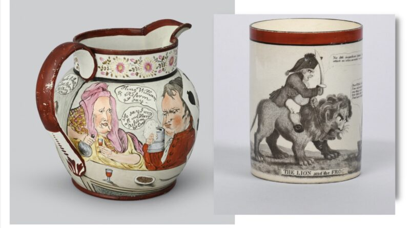 Items from the collection of commemorative ceramics
