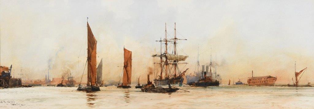 Charles Dixon - Off the Albert Docks