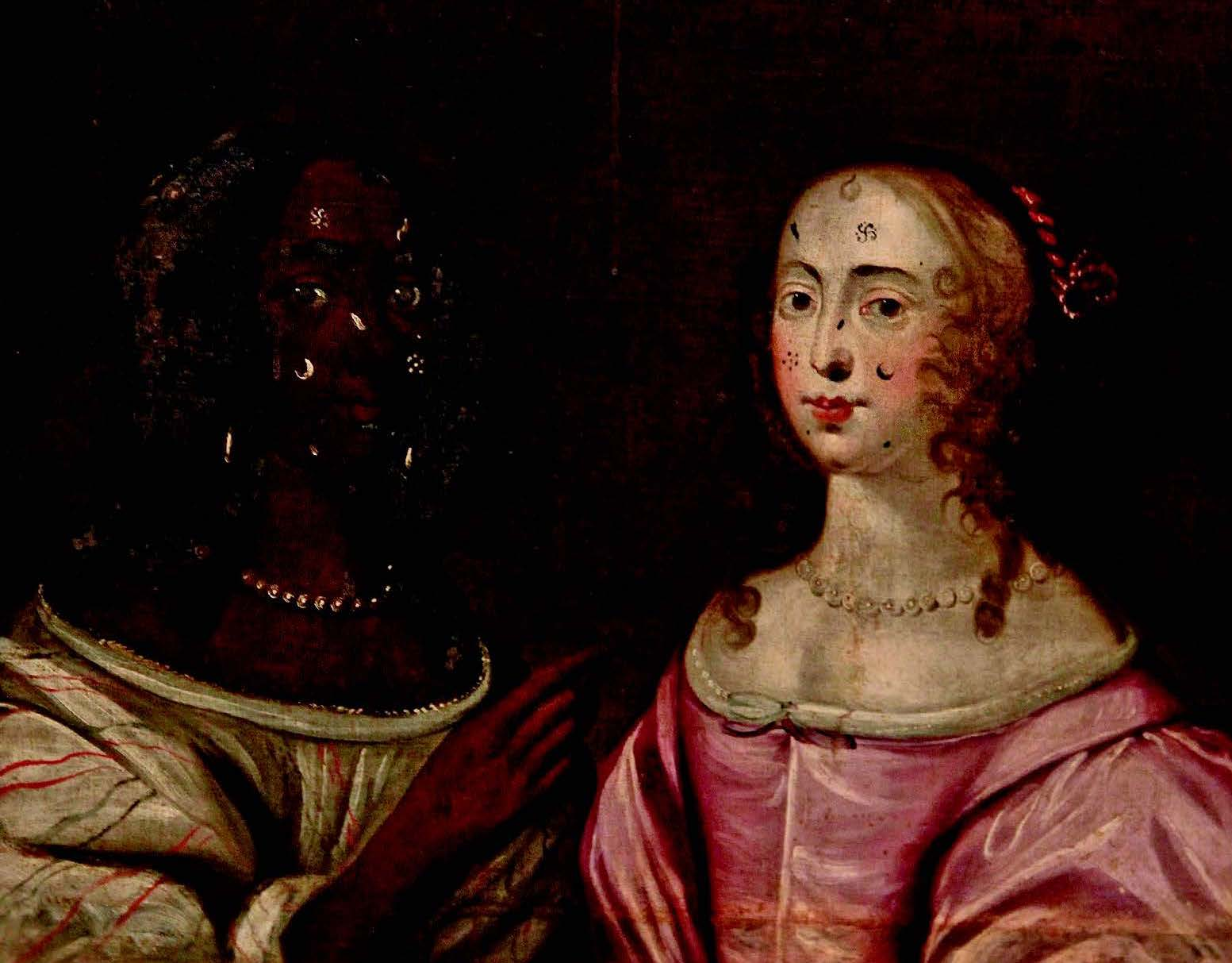 An unusual Cromwell era painting of two women