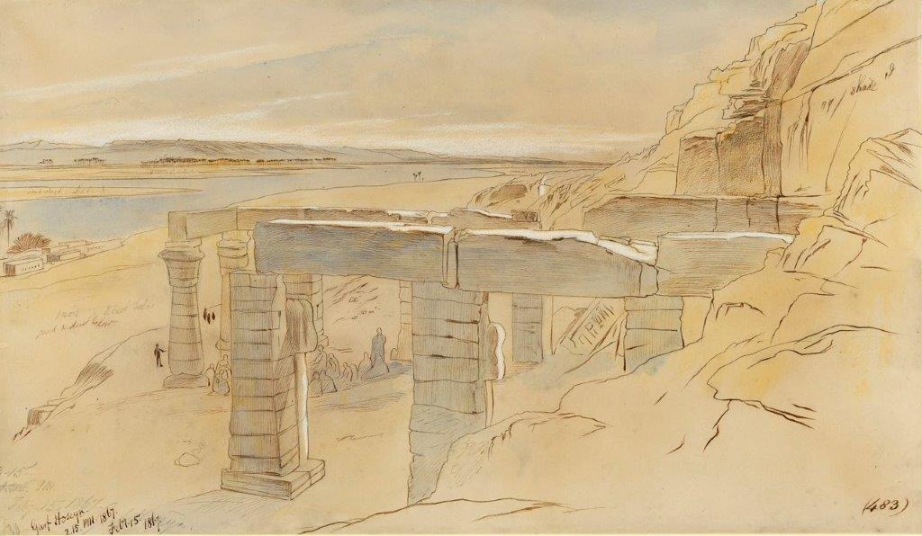 Edward Lear Garf Hoseyn in Egypt from 1867