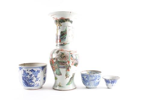 Famille Verte Yen Yen Kangxi Vase