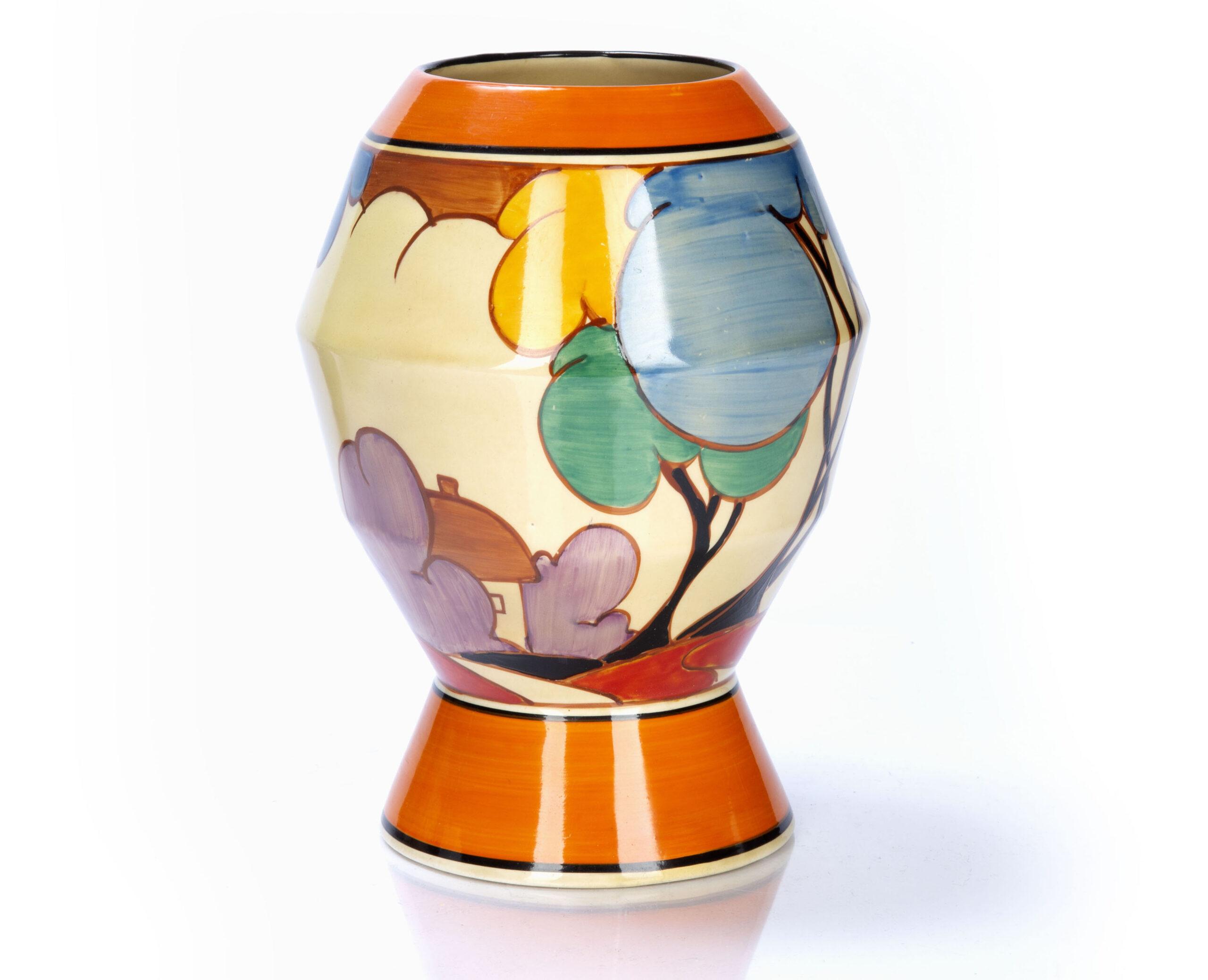 Clarice Cliff 'Autumn' shape 365 vase