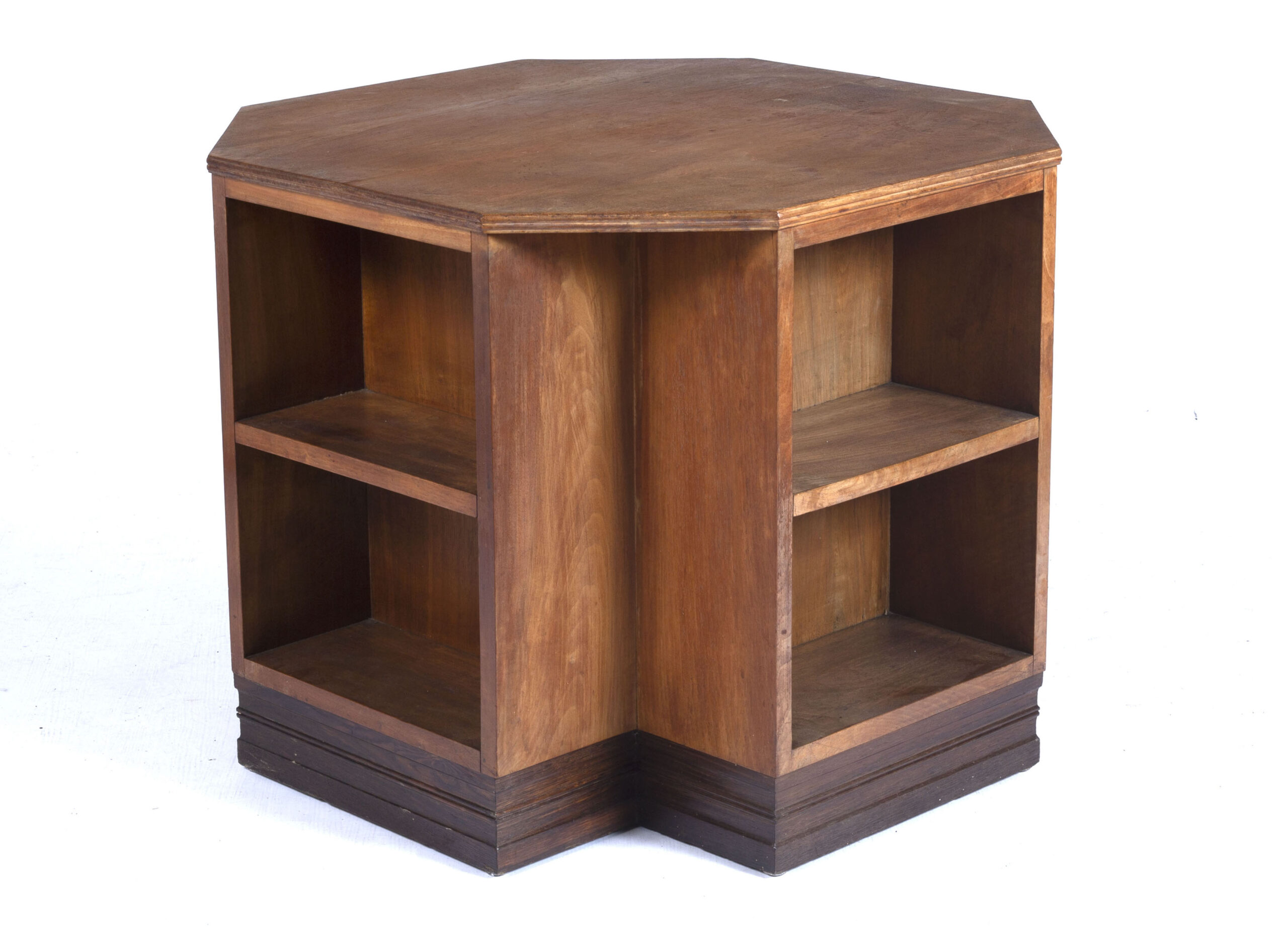 Gordon Russell English walnut and oak book table