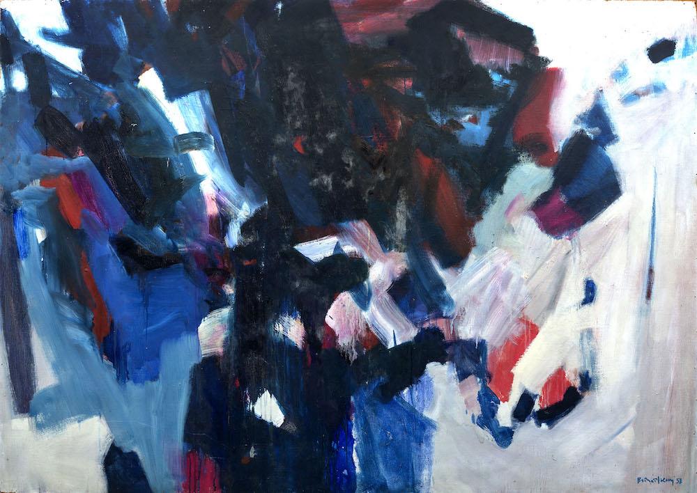 Bernard Kay Blue Red Triad - 1951