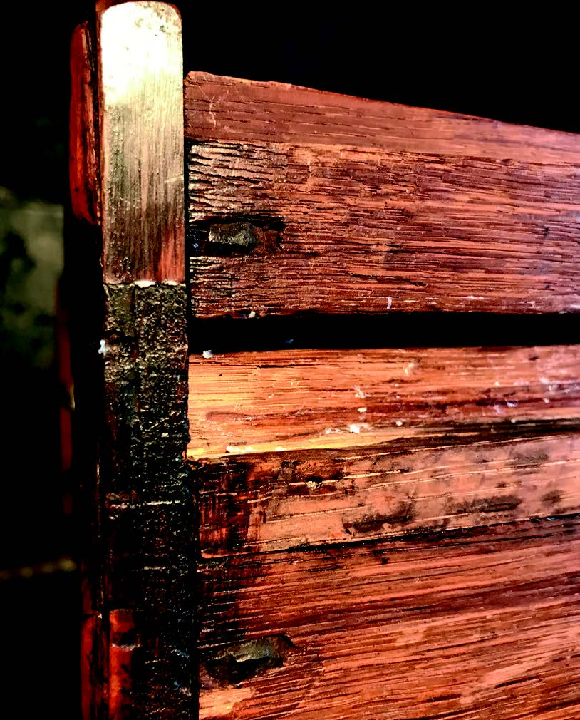 Early antique chests were glued or nailed together
