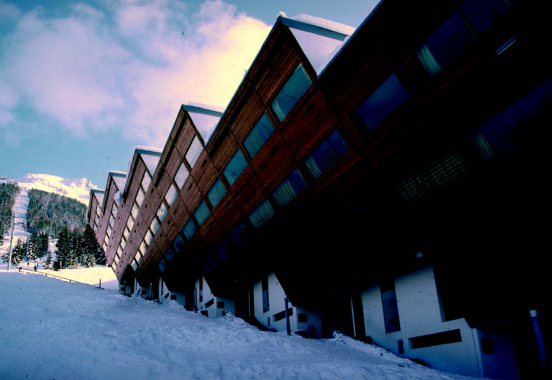 Les Arcs, the French ski resort designed by a group of architects in 1967-1969 led by Charlotte Perriand