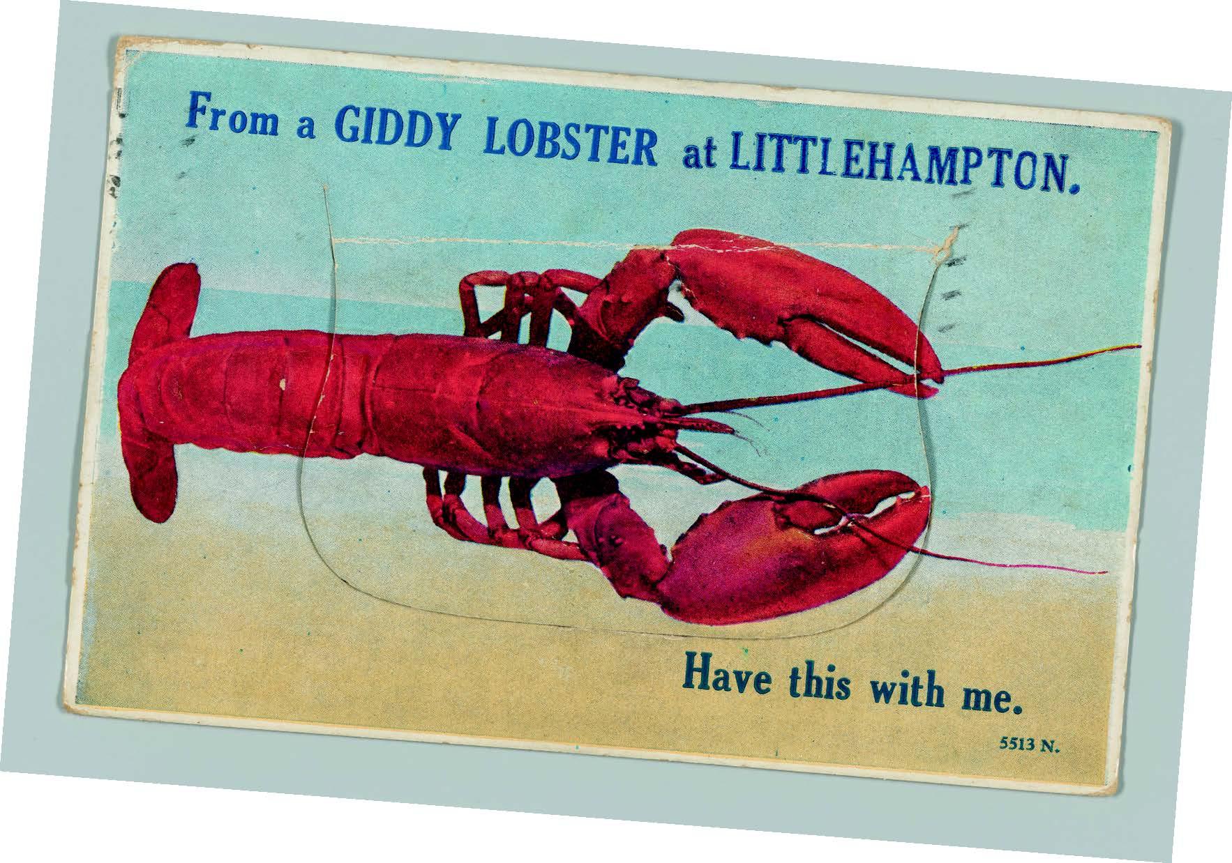 Lobster atLittlehamptonpostcard, 1928, © ThePostal Museum
