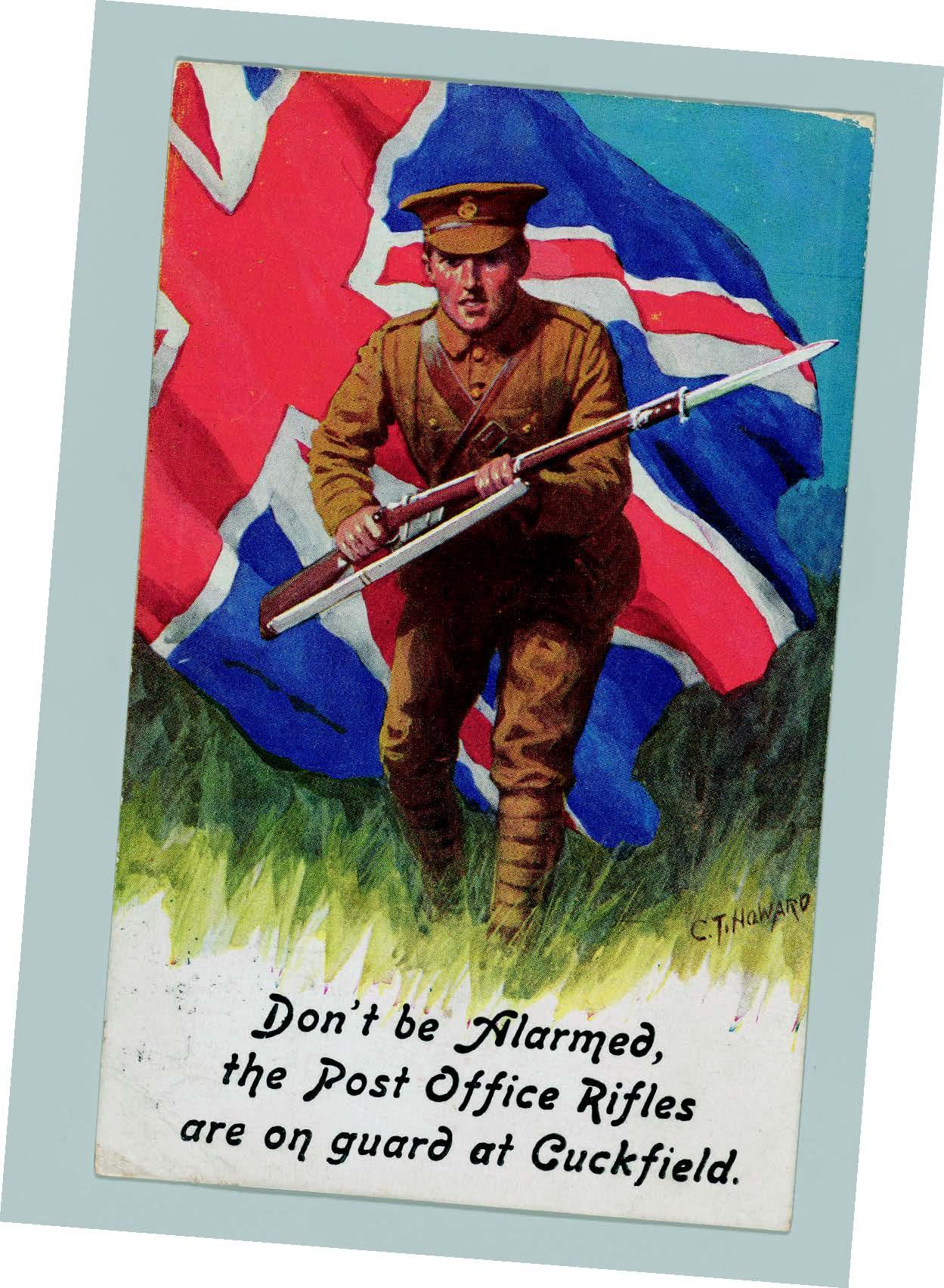 Post OfficeRifles Postcard, 1915, ©The Postal Museum