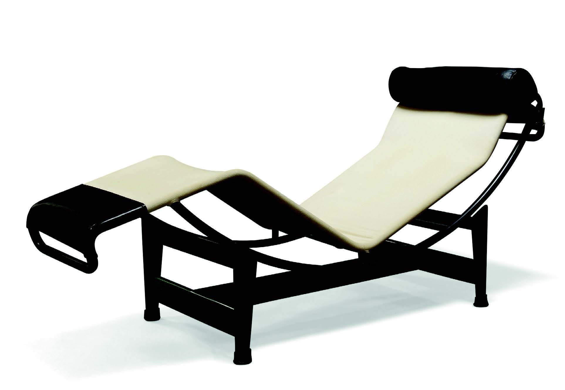 After Le Corbusier, Pierre Jeanneret & Charlotte Perriand, a limited edition LC4 chaise produced by Cassina c.1980