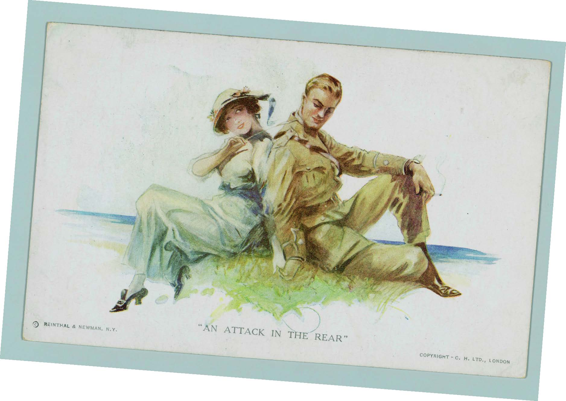 An Attack in theRear postcard, 1918, ©Reinthal & Newman, N.Y