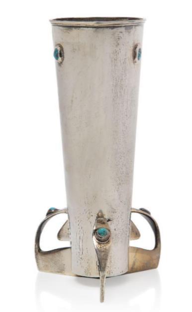 Archibald Knox silver vase