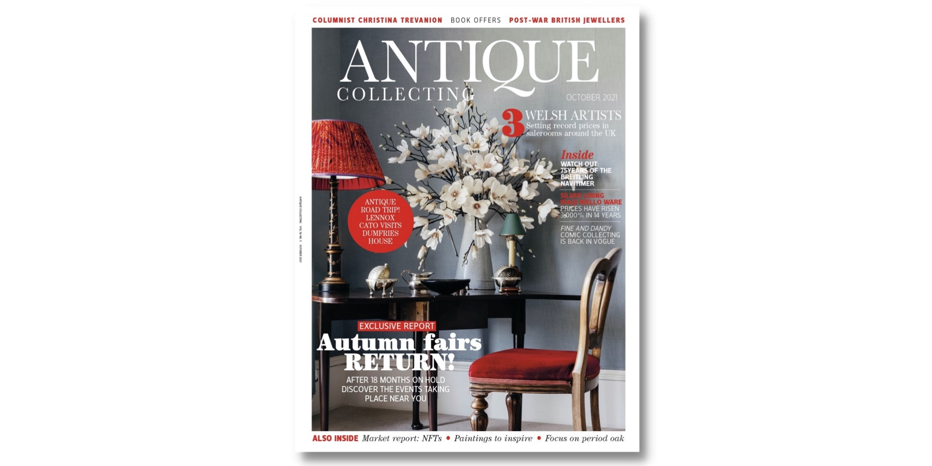 Front cover of Antique Collecting October 2021