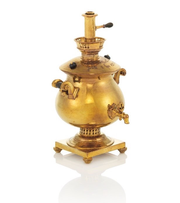 A miniature samovar by Fabergé