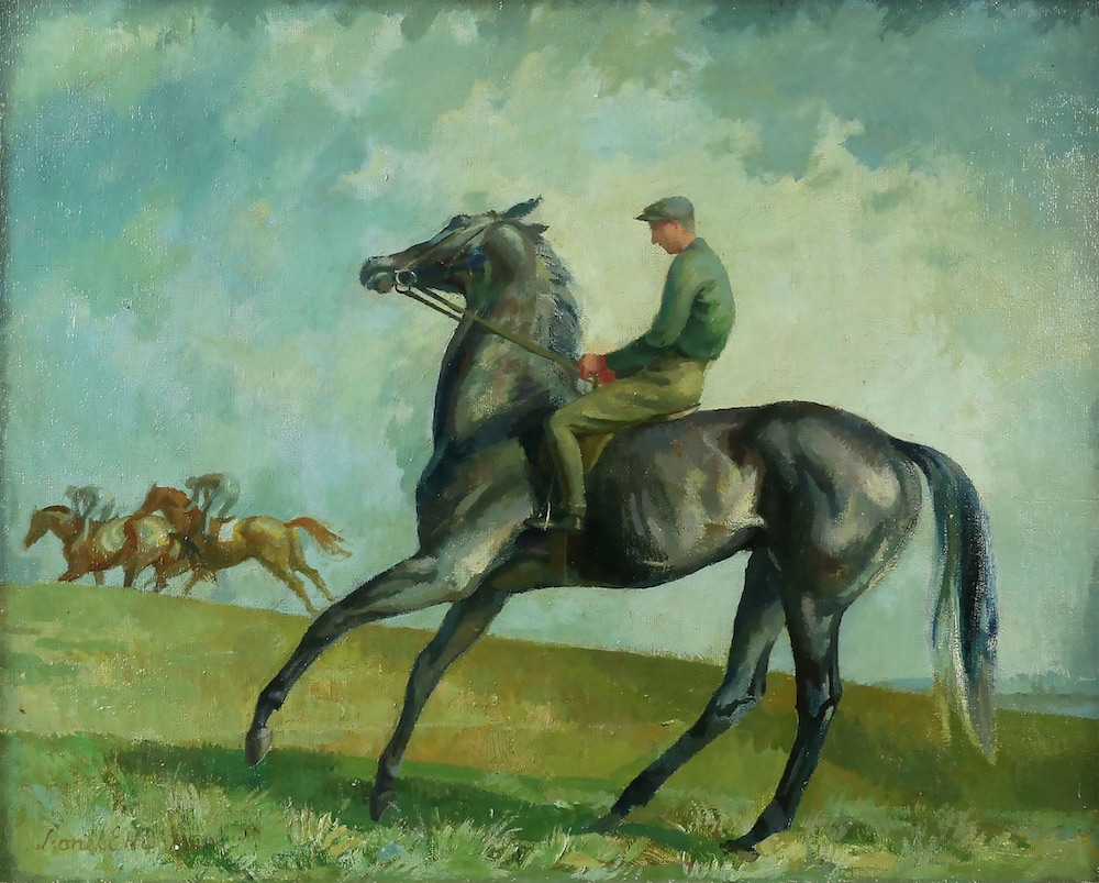 Lionel Ellis (1903-1988) Grey Colt. Oil 1949, signed and dated lower left, inscribed with title verso. 55 x 65cm. Estimate £400-600.