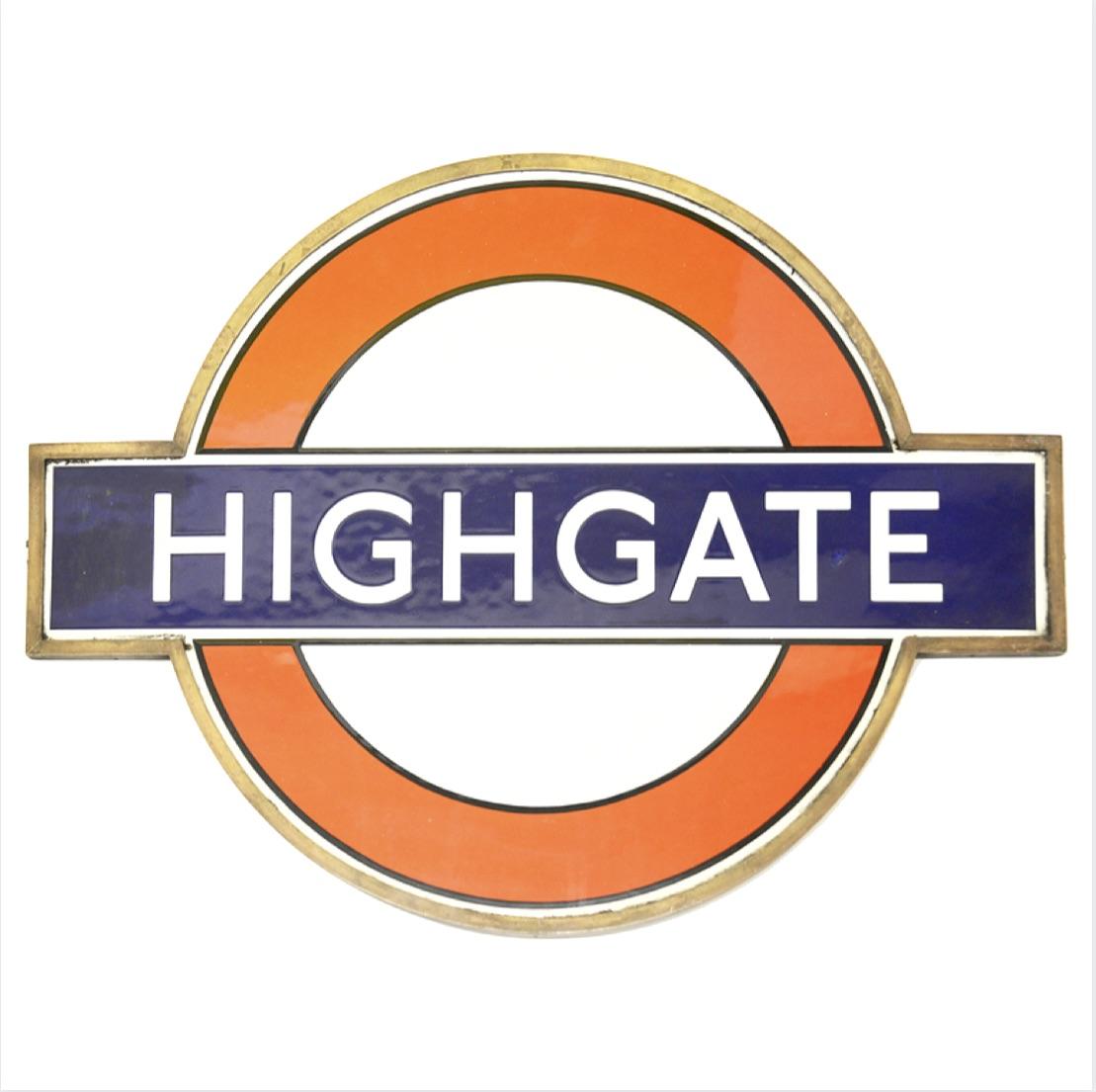 London Undergound 'Highgate' station sign