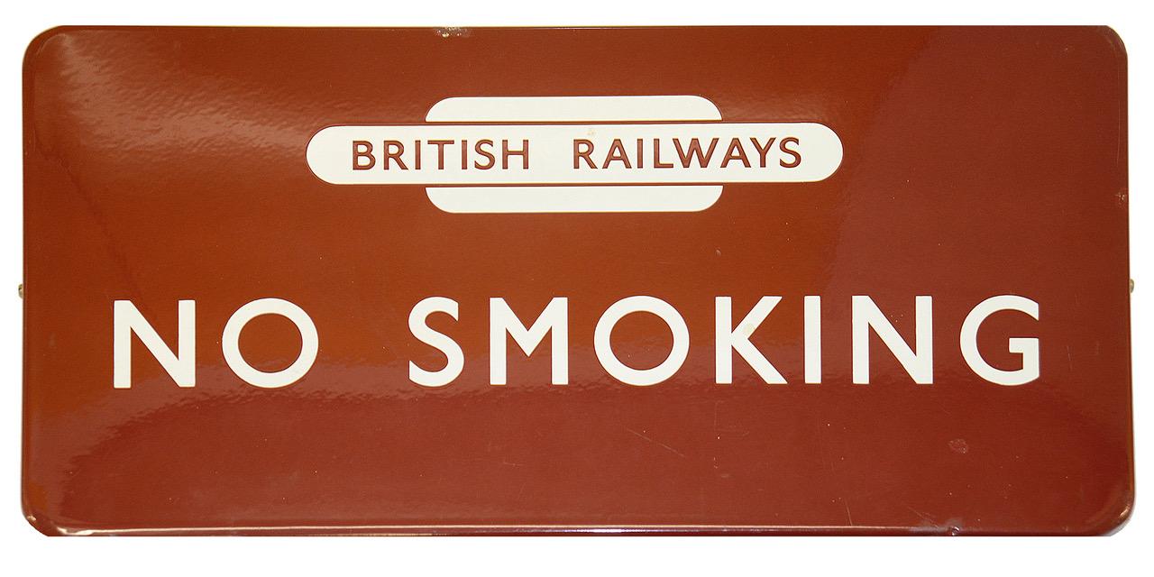 British Railways No Smoking sign