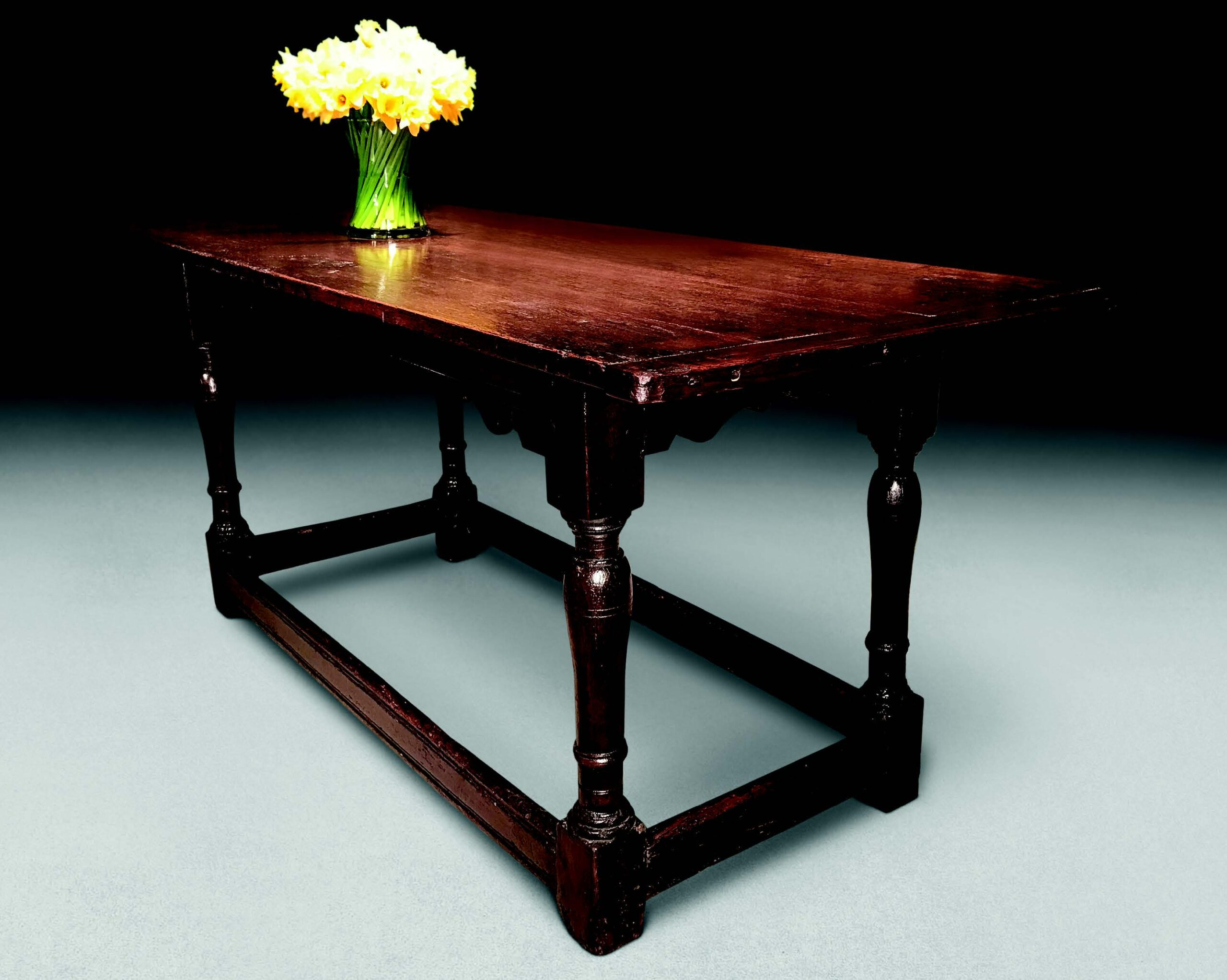 A Late 17th-century oak refectory table