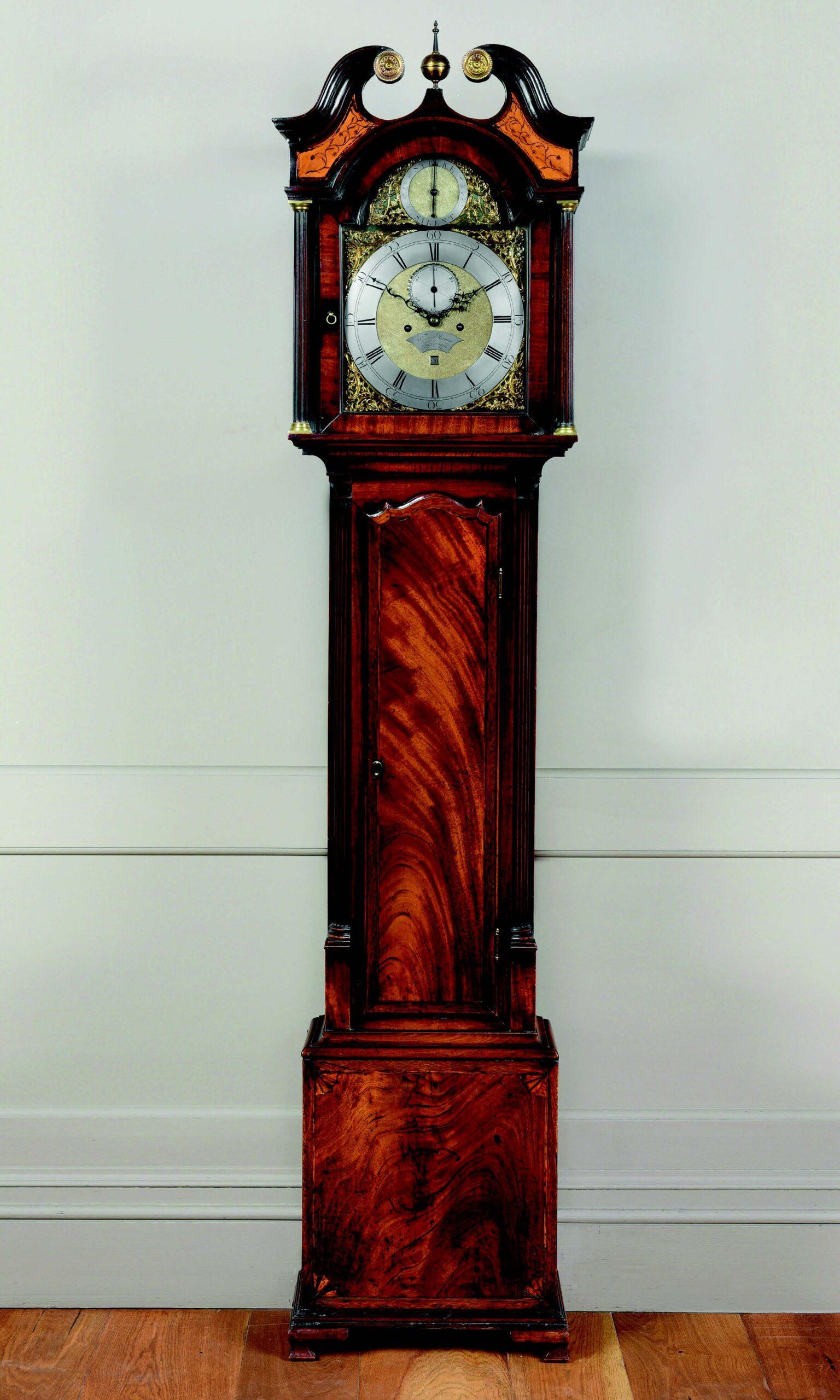A classic 18th-century Edinburgh longcase antique clock