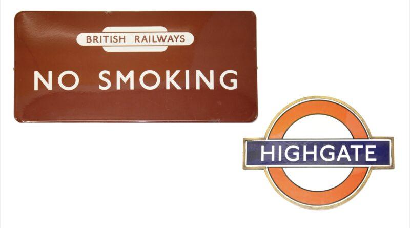 London Underground signs in auction
