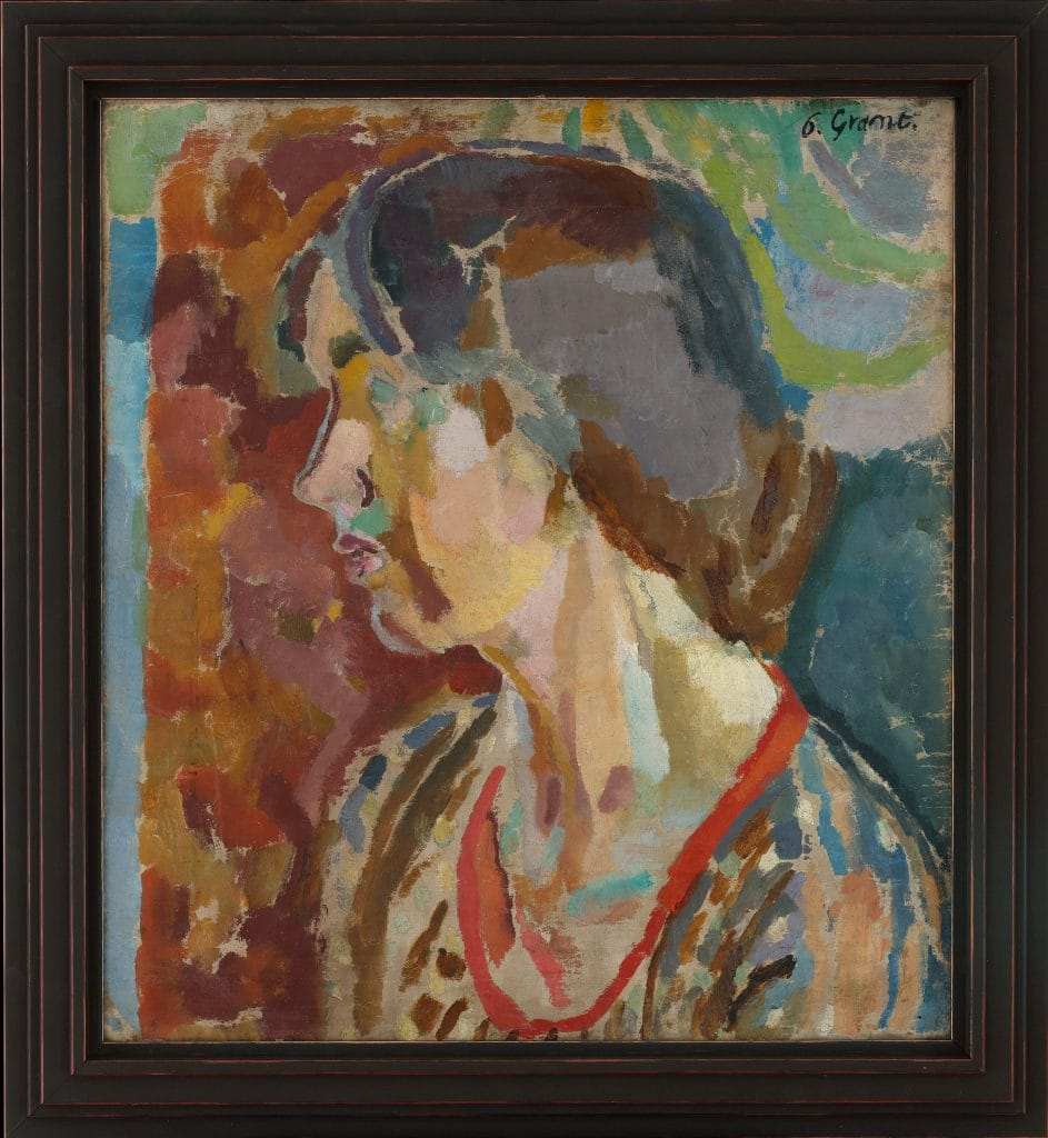 Duncan Grant, Portrait of Vanessa Bell,  1915-16, Oil on canvas.  Image courtesy of Philip Mould & Company