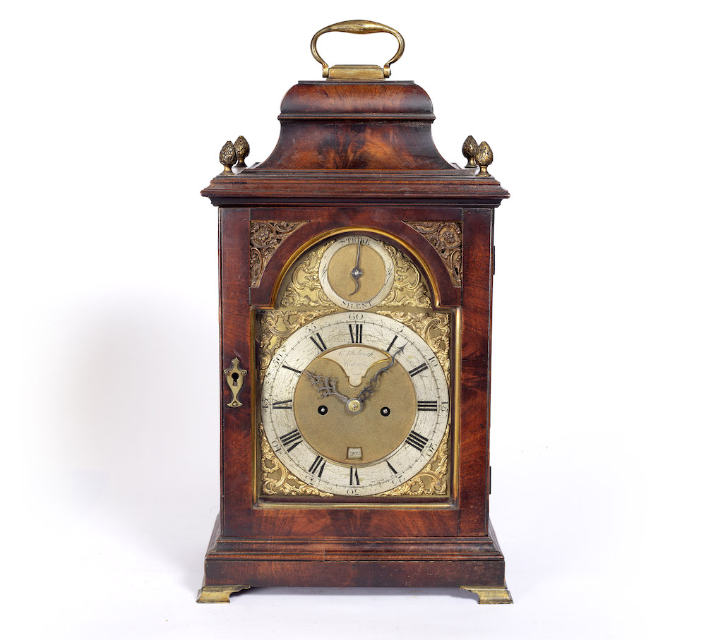 A George III mahogany bracket clock