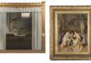 a pair of 19th century oil paintings