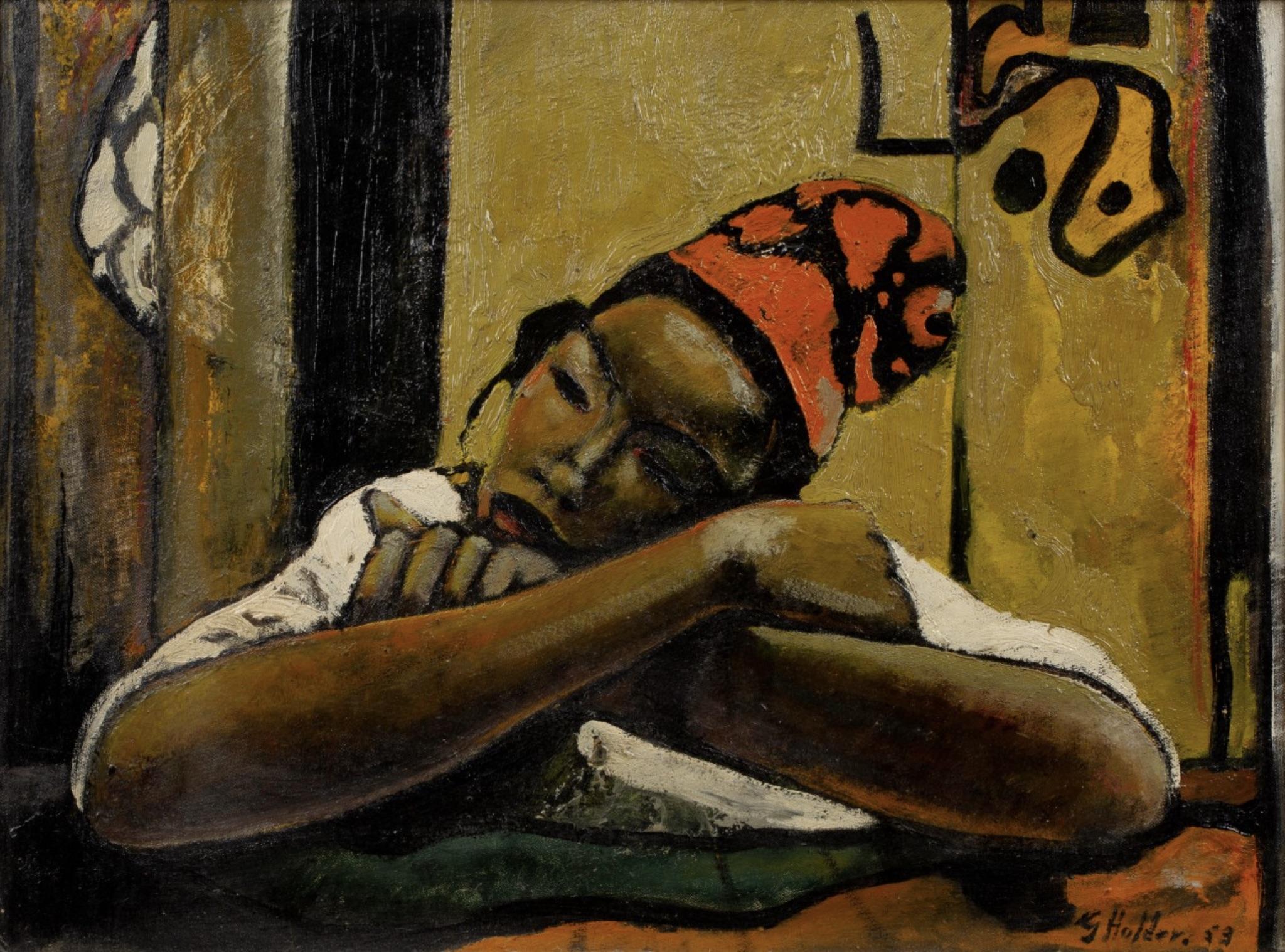 A Sleeping Boy by Geoffrey Holder