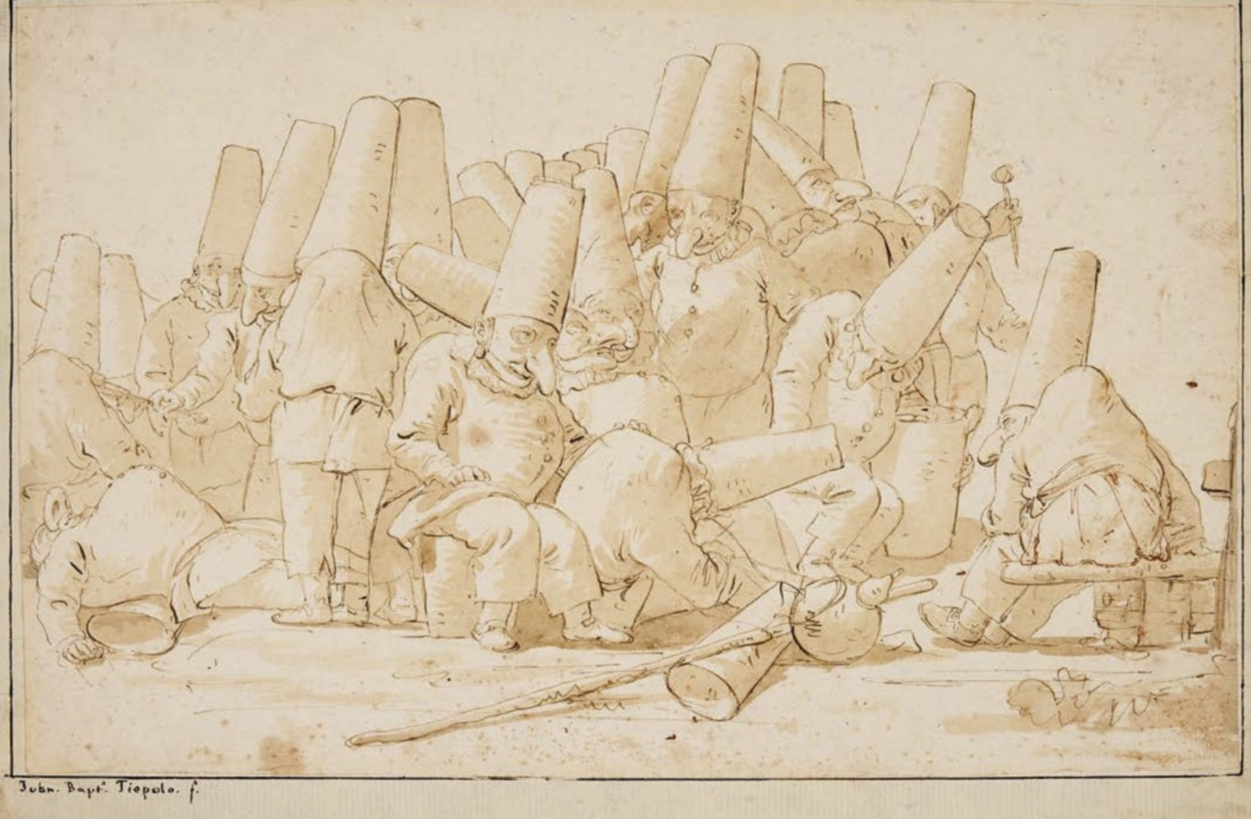 Tiepolo drawing from Weston Hall