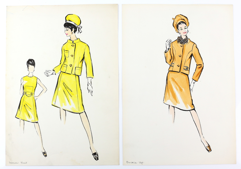 Fashion illustrations from Sir Norman Hartnell