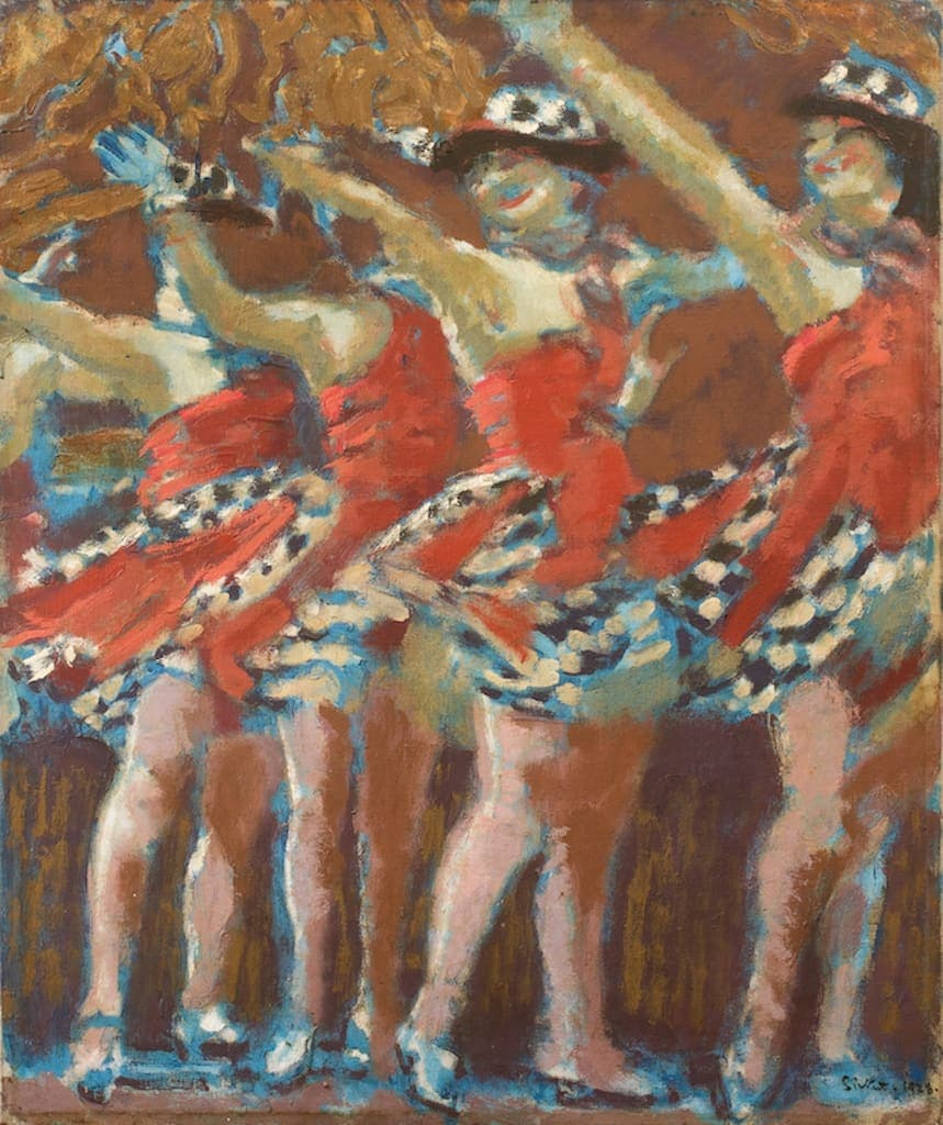 Walter Sickert, The Plaza Tiller Girls, 1928,  Oil on canvas, 76.2 x 63.5 cm, 30 x 25 in.  Image courtesy of Piano Nobile