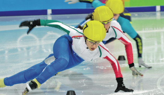 4eda29c39e8 Speed skaters at the Innsbruck Winter Olympics
