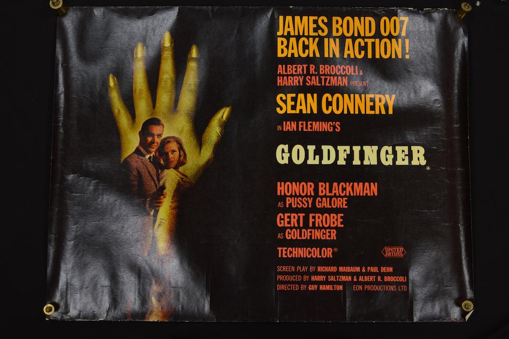 James Bond film poster for 1964 Goldfinger