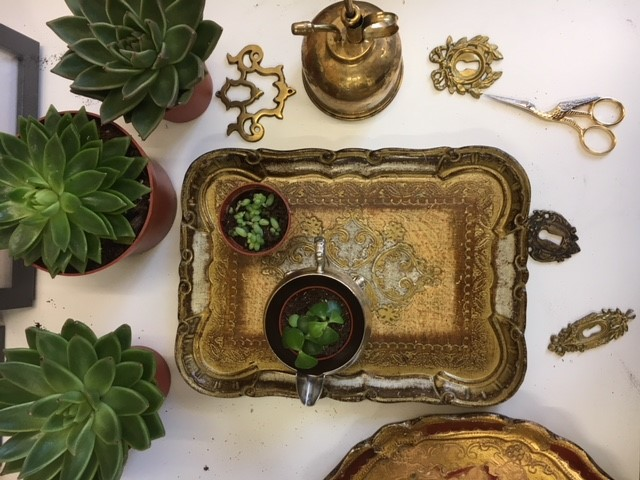 An antique tray from The Urban Vintage Affair