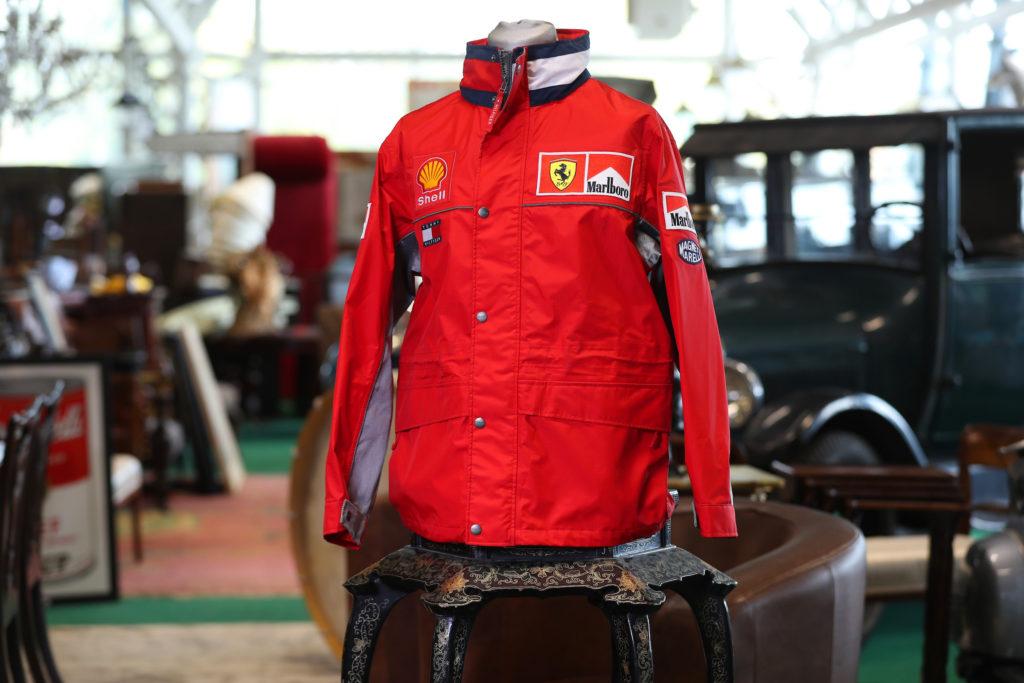 A signed Michhael Schumacher Ferarri jacket