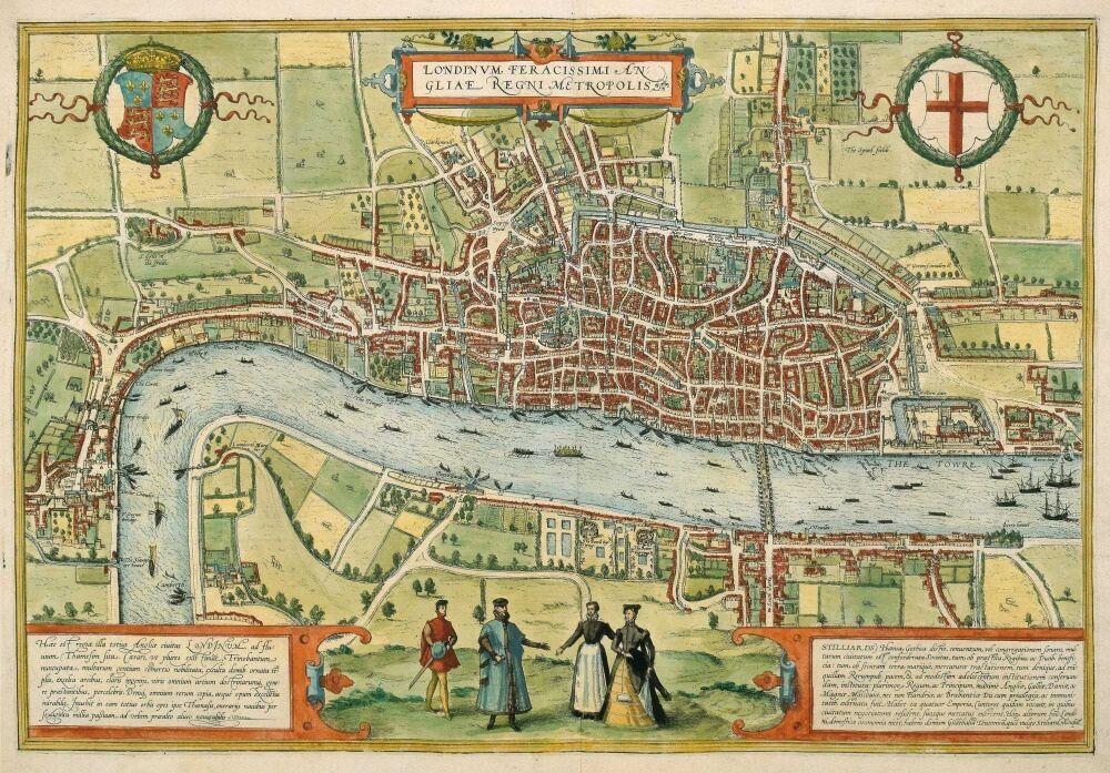 Tudor map of London