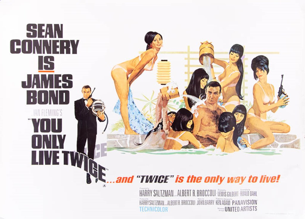 Original James Bond poster You Only Live Twice sold for £1,800 at Gildings