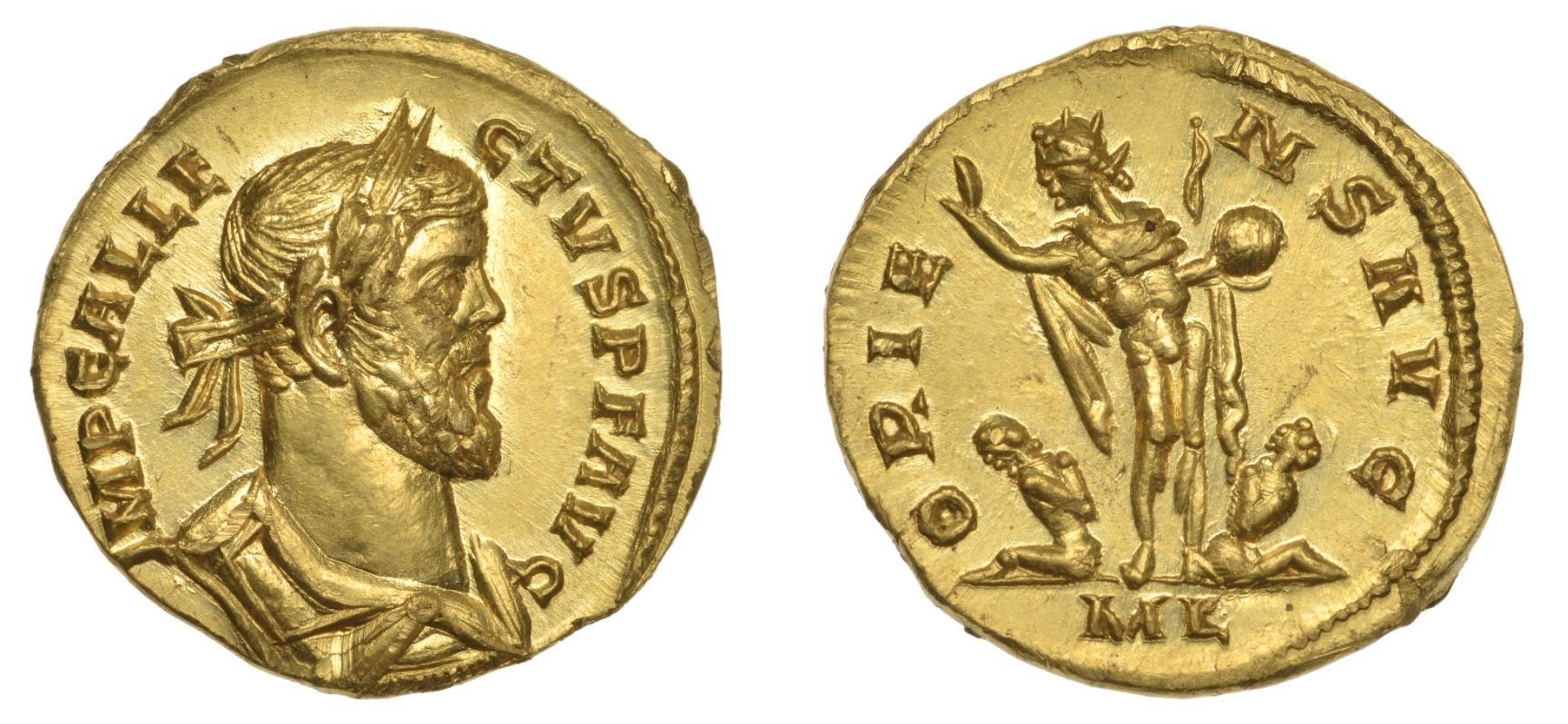 an aureus - a gold coin of ancient Rome